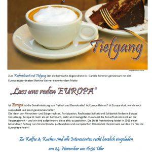 Einladung Kaffeeplausch mit Tiefgang - Europa 2017
