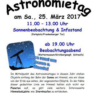 Einladung Astronomietag 2017