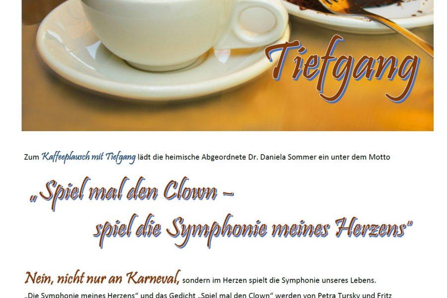 Einladung Kaffeeplausch mit Tiefgang - Clown 2018