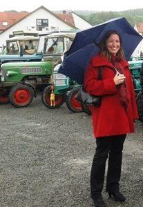 Traktorausstellung mit Dr. Daniela Sommer