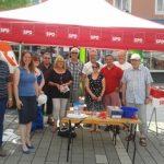 Wahlkampfstand in Bad Wildungen mit Dr. Daniela Sommer