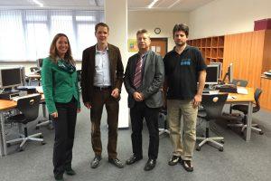 Besuch Gesamtschule Battenberg mit Kollegen Christoph Degen