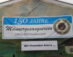 150 Jahre MGV Höringhausen mit Dr. Daniela Sommer