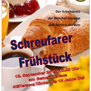 Einladung Schreufarer Frühstück 2015