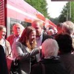 Eröffnungsfeier zur Bahnreaktivierung mit Dr. Daniela Sommer