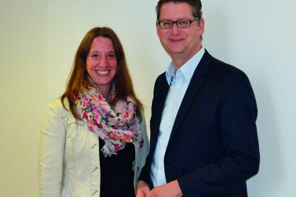 Dr. Daniela Sommer mit Thorsten Schäfer-Gümbel