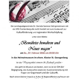 Einladung Veranstaltung Musik, Wein - Antik 2016