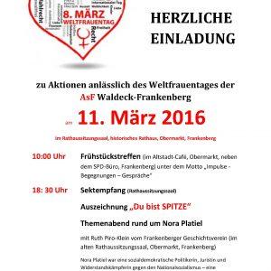 Einladung Internationaler Frauentag 2016