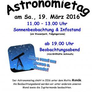 Einladung Astronomietag 2016