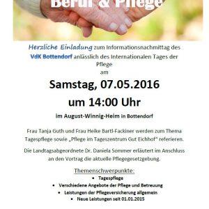 Einladung Informationsnachmittag VdK Bottendorf