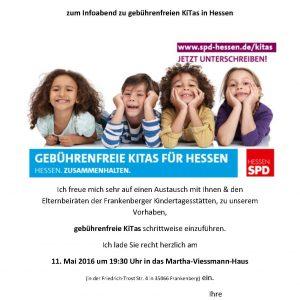 Einladung Informationsabend zu gebührenfreien Kitas in Hessen
