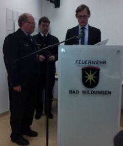 Jahreshauptversammlung Feuerwehren Bad Wildungen 2016 mit Dr. Daniela Sommer