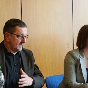 Dr. Daniela Sommer mit Kollegen Michael Siebel