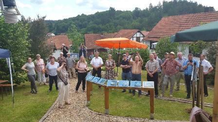 Eröffnung von Wetter- und Klimagarten in Schreufa mit Dr. Daniela Sommer