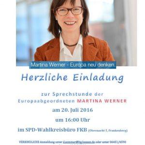 Einladung Sprechstunde Martina Werner 2016