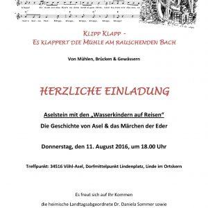 Sommertour 2016 Einladung Aselstein
