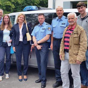 Besuch von Polizei in Frankenberg mit Kollegin Nancy Faeser