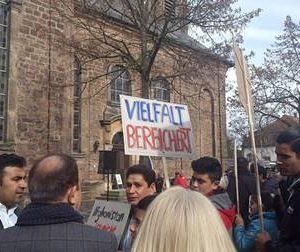 Kundgebung Abschiebestopp in Bad Arolsen mit Dr. Daniela Sommer