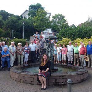 Sommertour 2017 Hänsel-und-Gretel-Brunnen Battenberg
