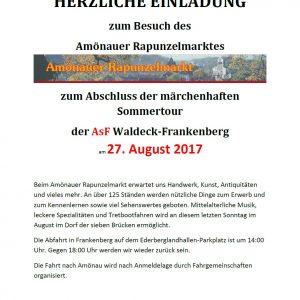 Einladung Amönauer Rapunzelmarkt ASF