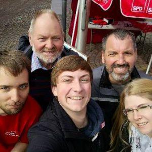 Wahlkampfstand 2017 in Frankenberg mit Dr. Daniela Sommer