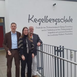 Besuch Kegelbergschule Frankenberg mit Kollegen Christoph Degen
